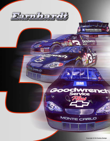 Photograph - Earnhardt No. 3 by Ed Dooley