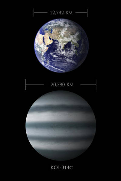 Earth And Koi-314c Comparison Art Print