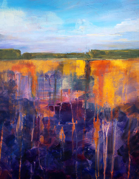 Pebble Painting - Earth And Sky by Nancy Merkle