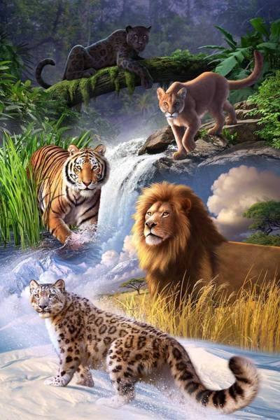 Big Cat Wall Art - Digital Art - Earth Day 2013 Poster by Jerry LoFaro