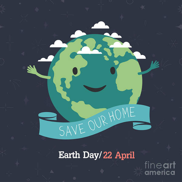 Globe Digital Art - Earth Day, 22 April. Save Our Home by Pashabo