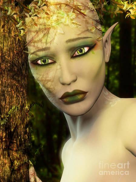 Digital Art - Earth Day Sad Elf by Elle Arden Walby