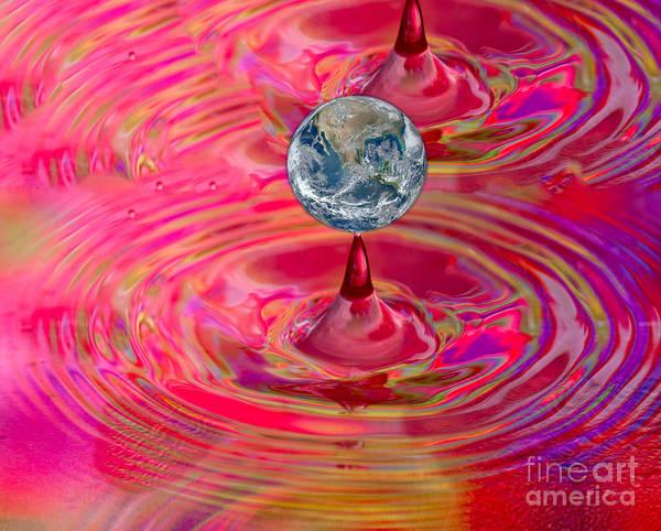 Photograph - Earth Droplet by Les Palenik