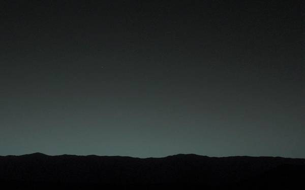 Astronomical Twilight Photograph - Earth From Mars by Nasa/jpl-caltech/msss/tamu