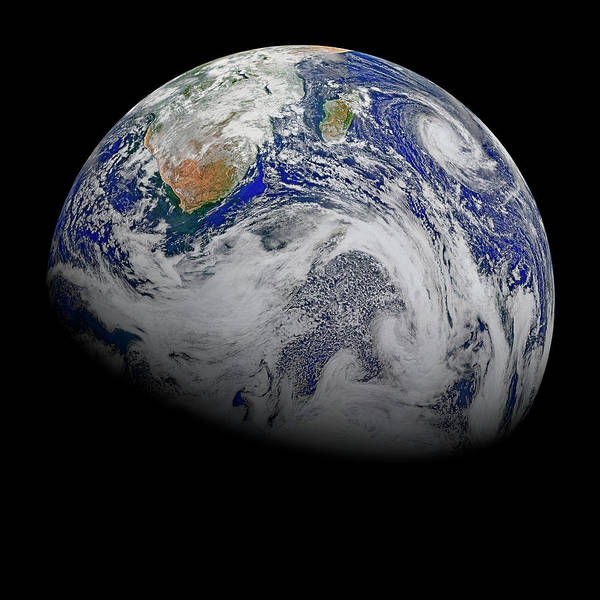 Suomi Photograph - Earth From Space by Nasa Goddard Photo And Vide