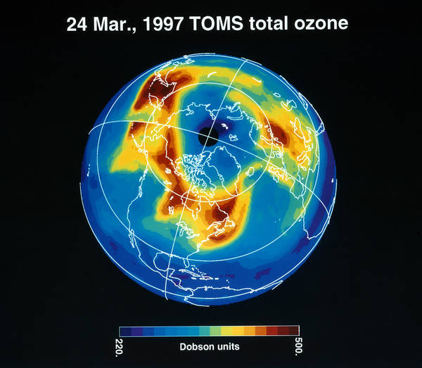 Photograph - Earth From Space: Ozone by Granger
