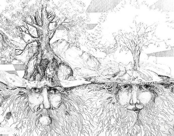 Drawing - Earth People by Lizi Beard-Ward