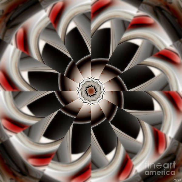 Propellors Digital Art - Earth Tone Abstract Of Symmetry by Phil Perkins