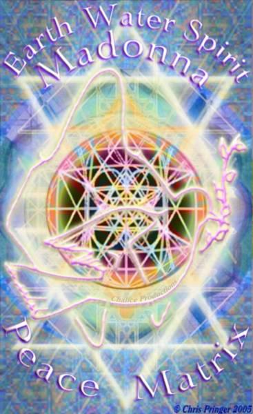 Digital Art - Earth Water Spirit Madonna Peace Matrix by Christopher Pringer