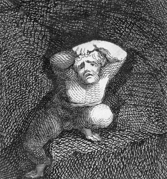 Stone Drawing - Earth by William Blake