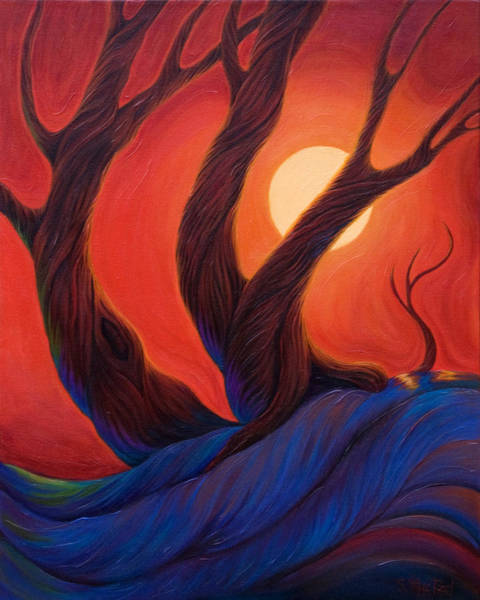 Art Print featuring the painting Earth  Wind  Fire by Sandi Whetzel