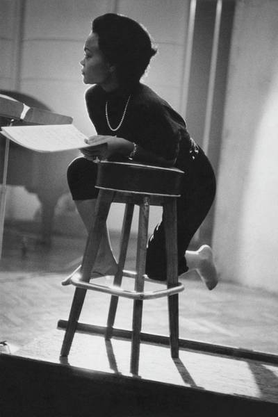 Singer Photograph - Eartha Kitt On A Stool by Martin Iger