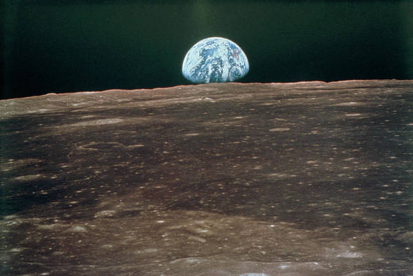 Wall Art - Photograph - Earthrise From Moon During Apollo 11 by Nasa/science Photo Library