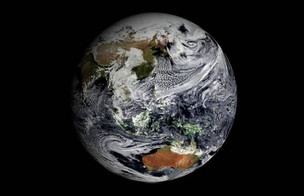 Earth Observation Wall Art - Photograph - Earth's Clouds Simulation by Nasa Earth Observatory/gsfc Scientific Visualization Studio/science Photo Library