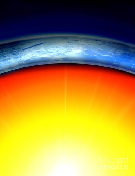 Mesosphere Photograph - Earths Core by Mike Agliolo