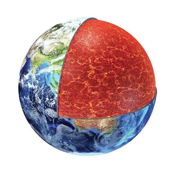 Mesosphere Photograph - Earth's Crust by Leonello Calvetti/science Photo Library