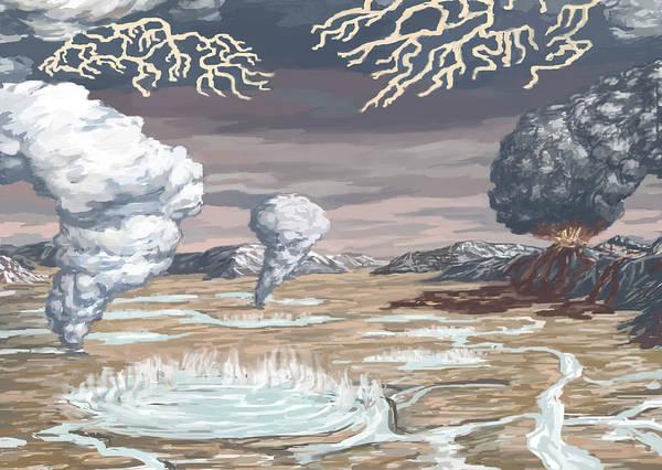 Photograph - Earths Origin, Illustration by Spencer Sutton