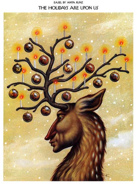 Animals Digital Art - The Holidays Are Upon Us by Anita Kunz