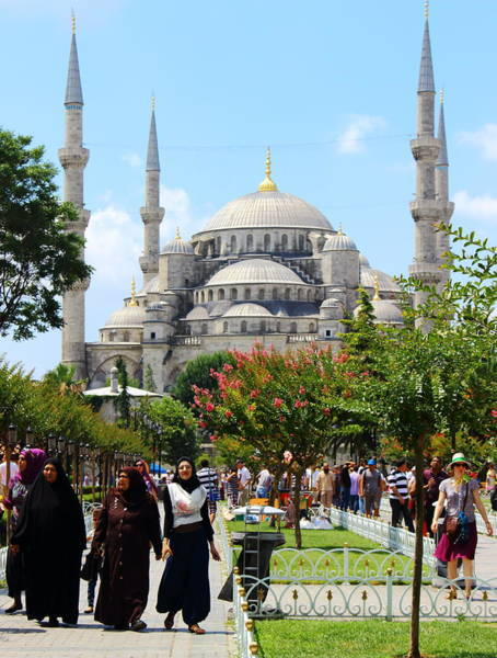 Sultan Ahmet Camii Wall Art - Photograph - East And West by Nick Eagles