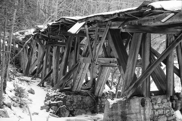 Photograph - East Branch And Lincoln Railroad - Timber Trestle 16 by Erin Paul Donovan