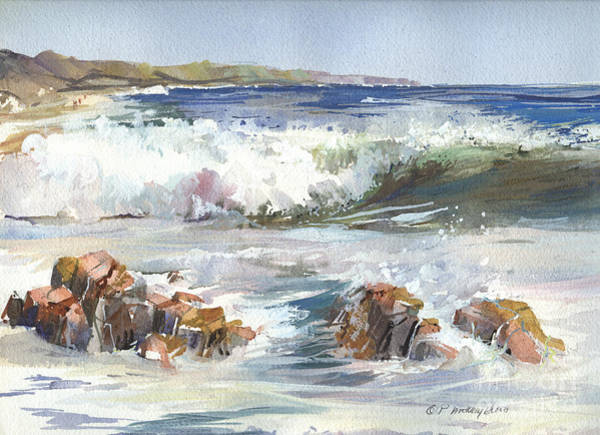 Painting - East Coast Breakers by P Anthony Visco