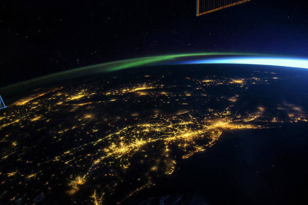 Atlantic Station Photograph - East Coast Usa At Night From Space by Nasa