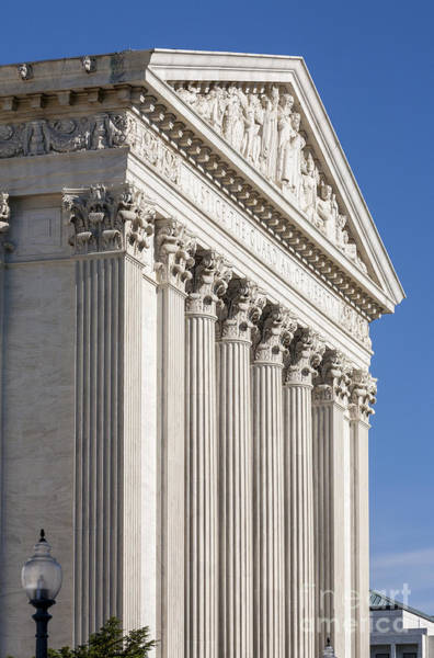 Photograph - East Front Of The Us Supreme Court Building In Washington Dc by William Kuta