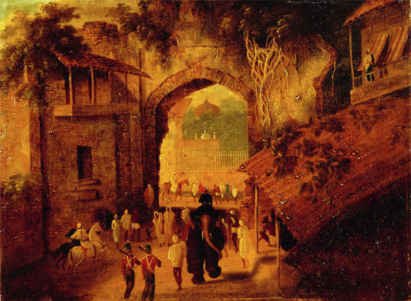 Gateway Arch Painting - East Gateway, Patna View Of The East Gateway Of The City by Litz Collection