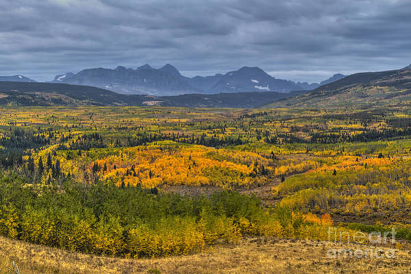 Photograph - East Glacier Autumn Colors by Mark Kiver