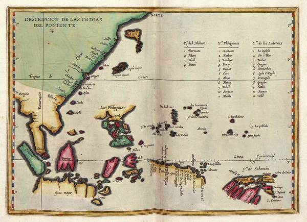 The Philippines Wall Art - Photograph - East Indies by Library Of Congress, Geography And Map Division
