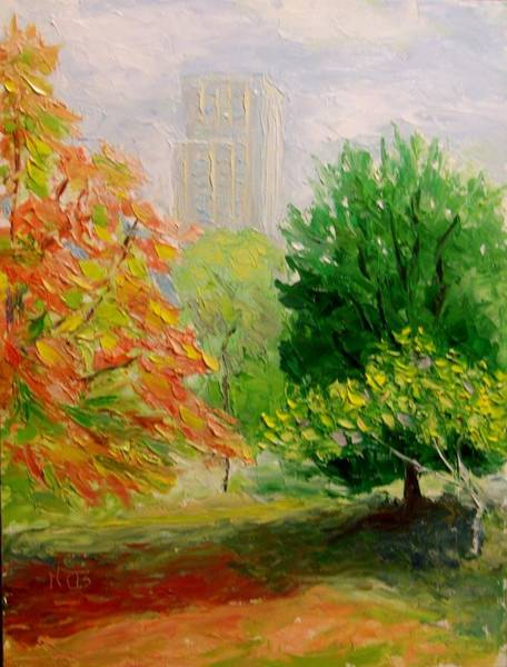 Painting - East Meadows Cp Ny by Nicolas Bouteneff
