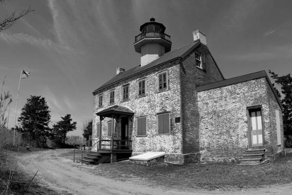 Photograph - East Point Lighthouse 2 - Bw Series by Kristia Adams