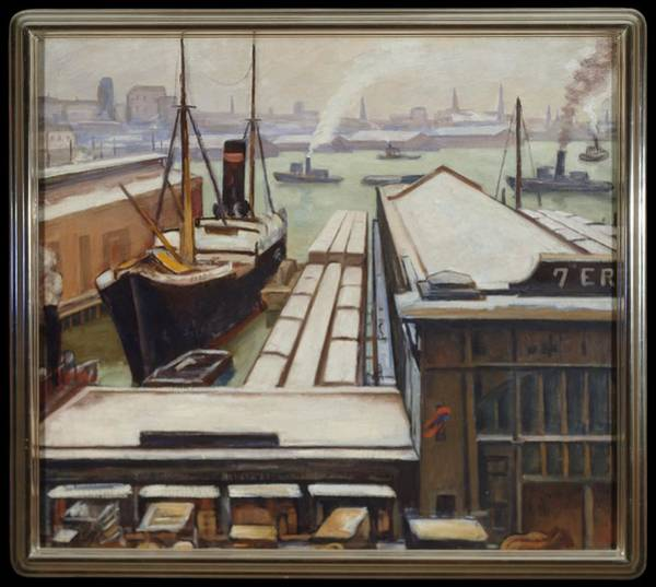 Central America Painting - East River by Samuel Halpert