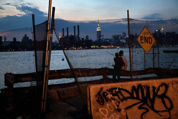 Chain Link Photograph - East River Skyline View Of Manhattan by Katja Heinemann