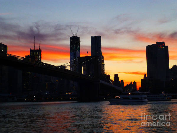 Photograph - East River Sunset by Steven Spak