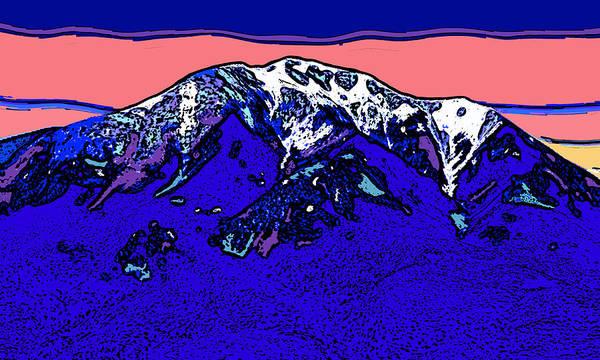 Wall Art - Digital Art - East Spanish Peak - Colorado by David G Paul