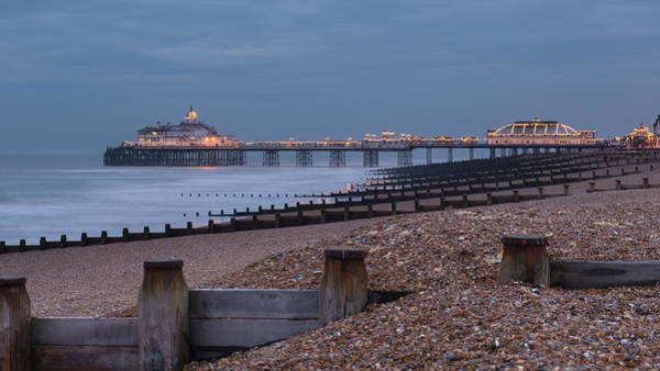 Waters Edge Wall Art - Photograph - Eastbourne Pier by Mario Eder