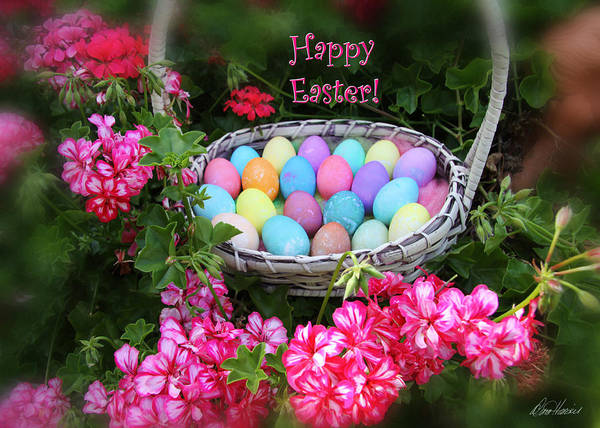 Photograph - Easter Basket And Flowers by Diana Haronis