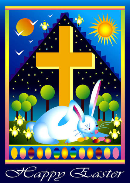 Digital Art - Easter Card by Nancy Griswold