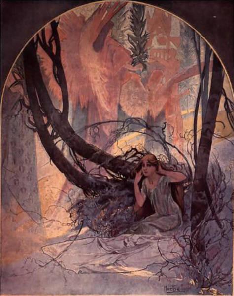 Alphonse Mucha Painting - Easter Chimes Awaken Nature by Philip Ralley