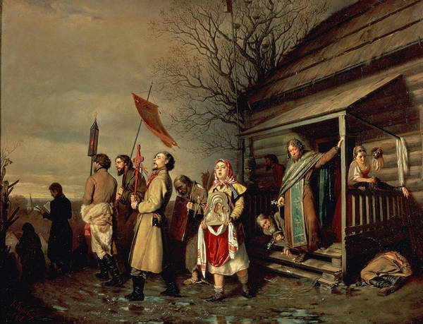 Photograph - Easter Procession, 1861 Oil On Canvas by Vasili Grigorevich Perov