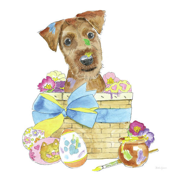 Wall Art - Painting - Easter Pups IIi by Beth Grove