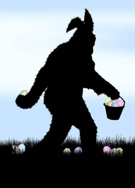 Urban Legend Digital Art - Easter Squatch With Bunny Ears by Gravityx9  Designs