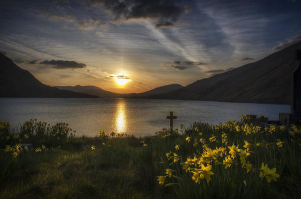 Dafodil Photograph - Easter Sunday Sunset by John Mee