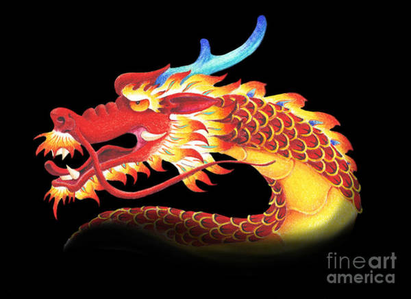 Wall Art - Digital Art - Eastern Dragon by Melissa A Benson