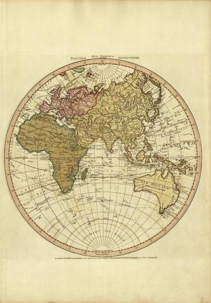 Hemisphere Wall Art - Photograph - Eastern Hemisphere by Library Of Congress/science Photo Library