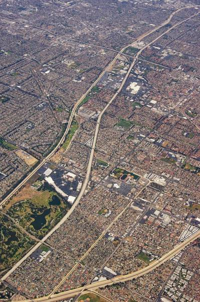 Gully Photograph - Eastern Los Angeles From The Air. by Mark Williamson