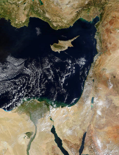 Cyprus Wall Art - Photograph - Eastern Mediterranean Sea by Nasa/science Photo Library