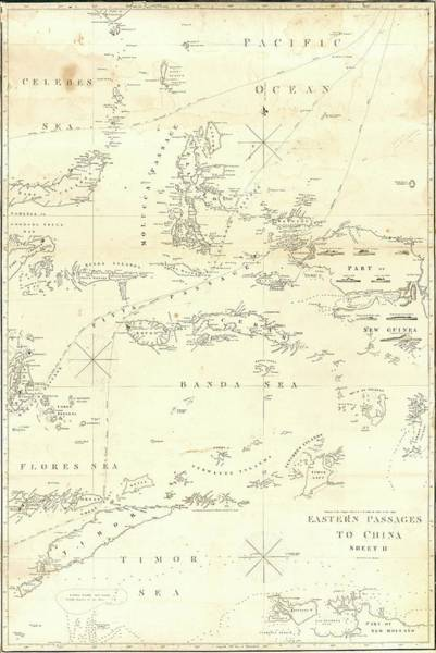 Flores Photograph - Eastern Sea Routes To China by Library Of Congress, Geography And Map Division/science Photo Library
