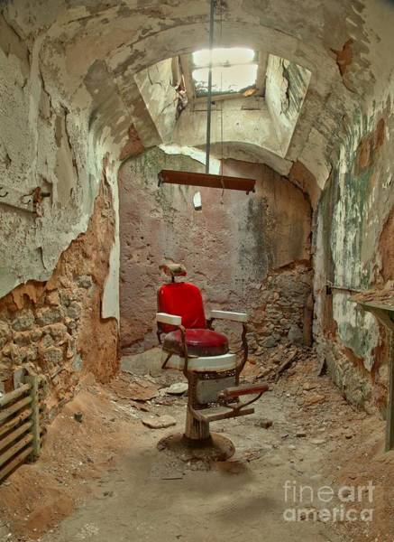 Photograph - Eastern State Penitentiary Barber Chair by Adam Jewell